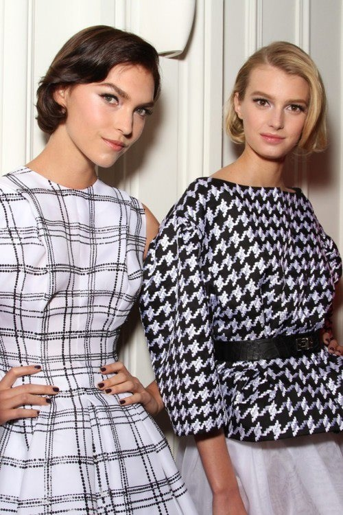 Houndstooth + Plaid = One Very Chic Fall