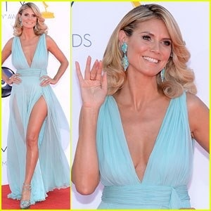 Best Dressed at the Emmy's in 2012 -Heidi Klum