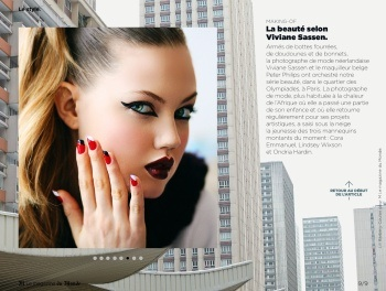 Lindsey Wixson stars in an Editorial called Macadam Princess in the April 2013 issue of Le Monde