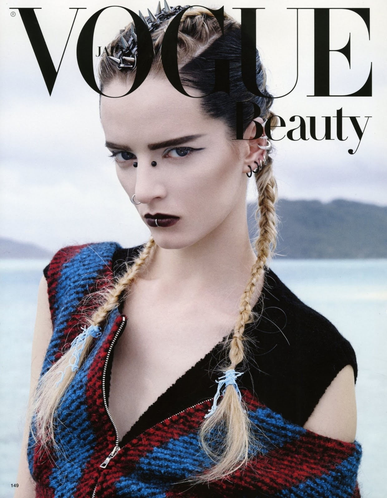 Daria Strokous Covers the Latest Issue of Vogue Japan Beauty